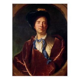 Retrato de Bernard le Bovier de Fontenelle Cartão Postal