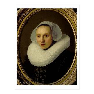 Retrato de Cornelia Pronck, esposa de Albert Cartão Postal