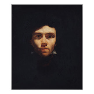 Retrato de Eugene Delacroix c 1818-19 Posters