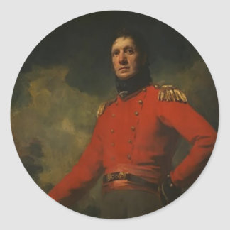 Retrato de Henry Raeburn- do coronel James Scott Adesivo Redondo