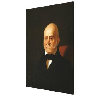 Retrato de JOHN QUINCY ADAMS por George Caleb Impressão Em Tela