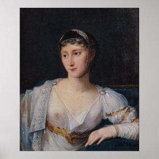 Retrato de Marie-Pauline Bonaparte Poster