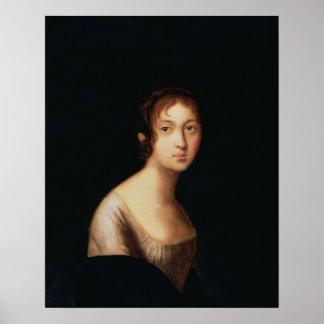 Retrato de Natalia Goncharova, 1820s Poster