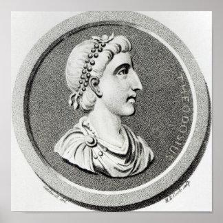 Retrato de Theodosius Impressão