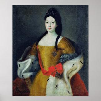 Retrato de Tsarevna Anna Petrovna, 1740s Poster