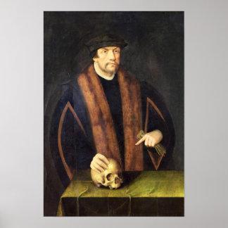 Retrato de um homem c 1550 pôsteres