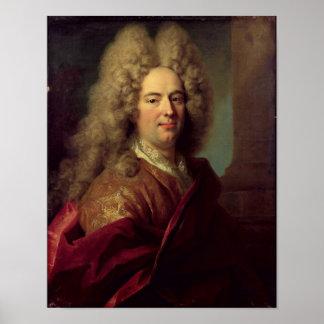 Retrato de um homem c 1715 pôsteres
