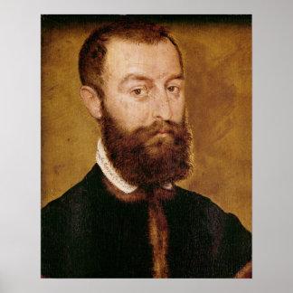 Retrato de um homem com uma barba pôster