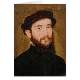 Retrato de um homem desconhecido 2 cartão comemorativo