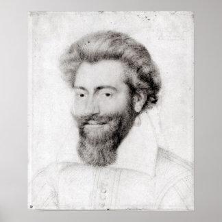 Retrato de um homem farpado posteres