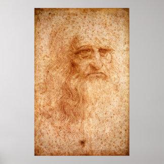 Retrato de um homem farpado - poster da reprodução