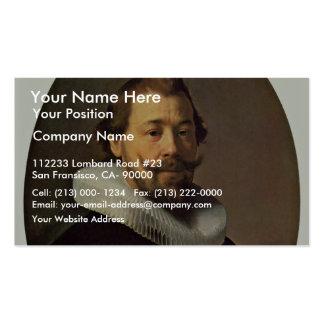 Retrato de um homem. Pela oficina de Rembrandt Cartão De Visita