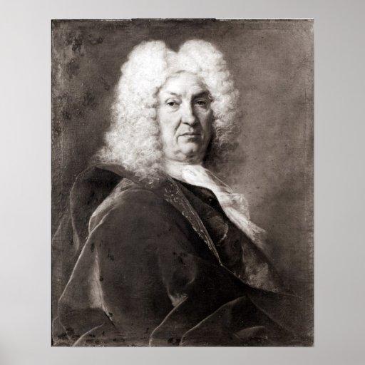 Retrato de um homem impressão