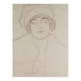 Retrato de uma jovem mulher cartão postal