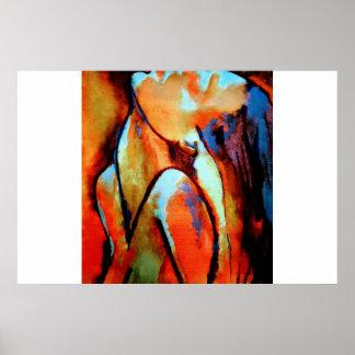 """Retrato de uma mulher """"esmagamento """" pôsteres"""