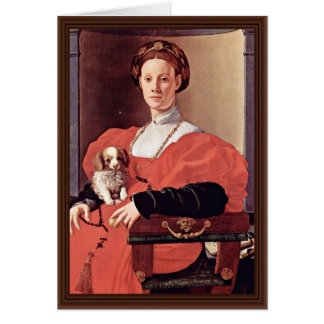 Retrato de uma senhora Vermelho Pingamento Pontorm Cartao