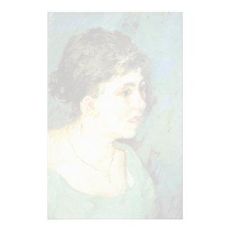 retrato de Van Gogh | da mulher no azul | 1885 Papelaria
