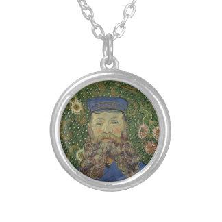 Retrato de Van Gogh   do carteiro Joseph Roulin II Colar Banhado A Prata
