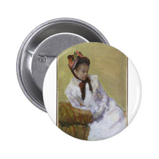 Retrato do artista - Mary Cassatt Bóton Redondo 5.08cm