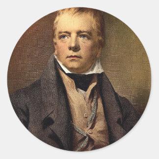 Retrato do clássico Photochrom do senhor Walter Sc Adesivo Em Formato Redondo