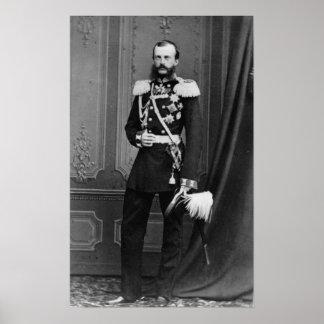 Retrato do duque grande Michael Nikolaevich Poster