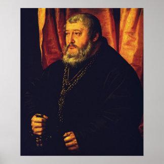 Retrato do eleitor Palatine Otto Henry Pôsteres
