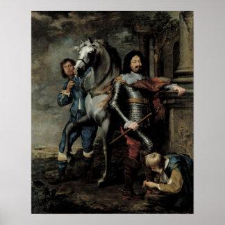 Retrato do general Ottavio Piccolomini Poster