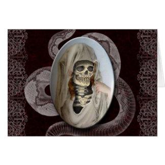 Retrato do GHoUL do Dia das Bruxas Cartão Comemorativo