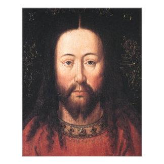 Retrato do Jesus Cristo daqui até janeiro Flyer 11.43 X 14.22cm