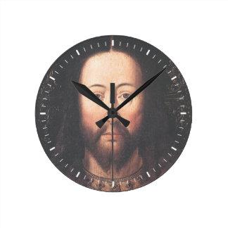 Retrato do Jesus Cristo daqui até janeiro Relógio Para Parede