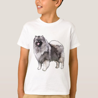 retrato do keeshond camiseta