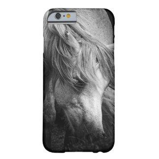 Retrato do pônei do monograma - égua do pônei de capa barely there para iPhone 6