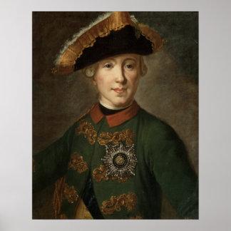 Retrato do Tsar Peter III Poster
