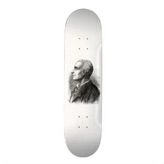 Retrato gravado de Montesquieu por Emile Bayard Shape De Skate 19,7cm