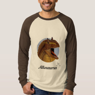 Retrato Gregory Paul do Allosaurus do Raglan do T-shirts