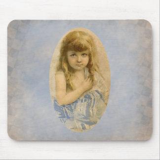 Retrato Mousepad da menina do Victorian do vintage