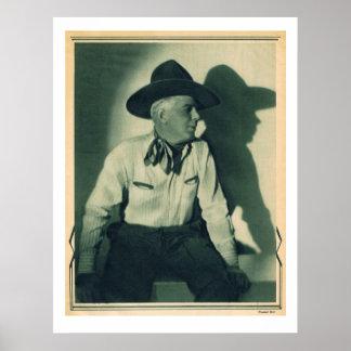 Retrato ocidental da estrela de cinema de Gibson 1 Pôsteres