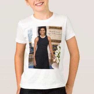 Retrato oficial da primeira senhora Michelle Obama T-shirts