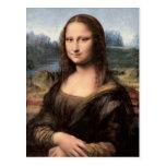 Retrato/pintura de Mona Lisa Cartoes Postais