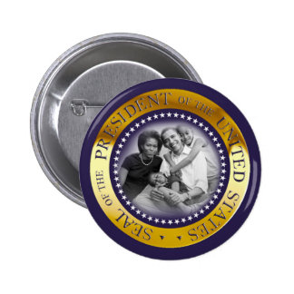Retrato presidencial do selo de Obama Bóton Redondo 5.08cm