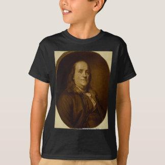 Retrato principal de Benjamin Franklin e dos Camiseta