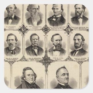 Retratos dos cidadãos do Condado de Scott Adesivo Quadrado
