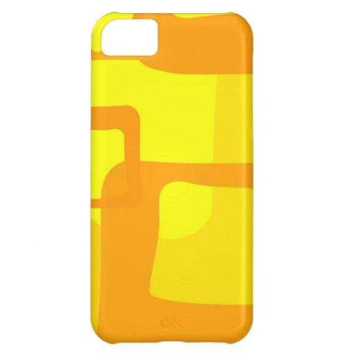 RETRO AMARELO CAPA PARA iPhone 5C