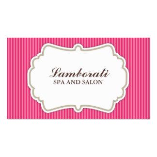 Retro elegante do rosa do salão de beleza do cartão de visita