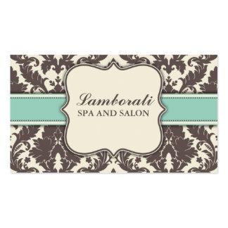 Retro elegante moderno elegante do damasco floral cartão de visita