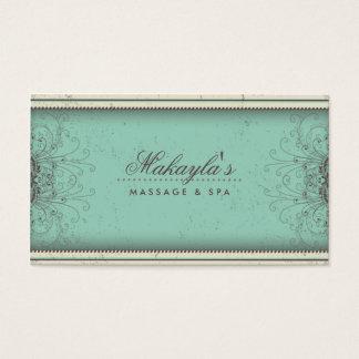 Retro elegante moderno elegante do damasco floral cartão de visitas