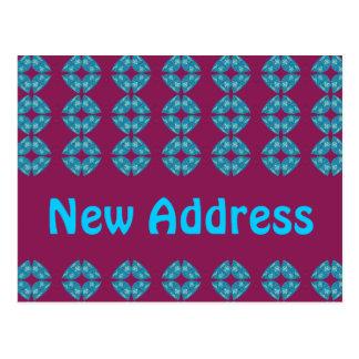 retro groovy do endereço novo cartão postal