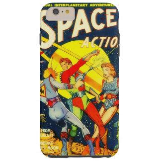 Retro no espaço capas iPhone 6 plus tough