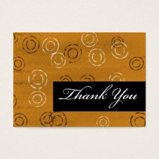 Retro Você-marrom do obrigado Cartão De Visitas
