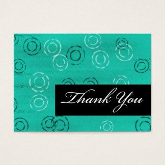 Retro Você-verde do obrigado Cartão De Visitas